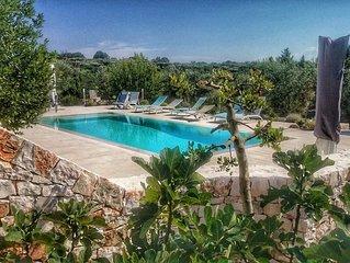 Trulli with swimming pool in Putignano's country