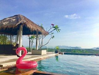 Shamballa · Eastern islands panoramic sea view pool villa!