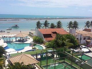 Espetacular apartamento beira mar em uma das mais belas praias do Brasil