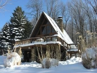 Unique A-Frame Chalet with Hot Tub and Sauna on secluded 1 acre