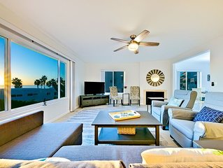 Sunny Condo w/ Ocean & Pier Views + Walk to Beach
