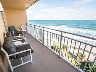 Beachfront Vacation Rental, Beautiful Views from the 6th story balcony.