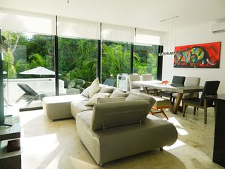 LUXURY TOWNHOUSE, PRIVATE POOL GOLF TWO BED ROOM TULUM
