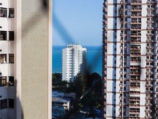 Apartamento espaçoso com Vista Mar