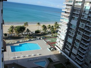 Luxury  apartment with spectacular ocean  front view in the heart of Isla Verde