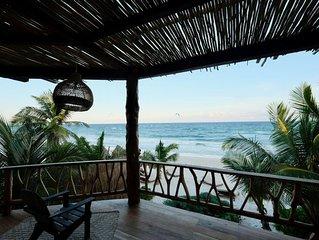 Oceanfront Villa 3 Bedrooms Tulum, Casa Ganesh