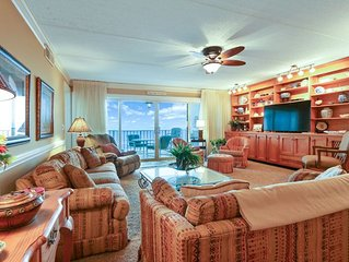 6th Floor 3 Bedroom/2 Bath Oceanfront condo sleeps 8 guests.  Oceanfront balcony