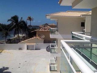Apto.100m2 - 3ts (1Suite) - NOVO - Completo e Confortavel - Praia Ponta da Areia