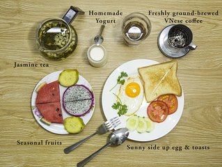 Stay with locals and have a healthy breakfast