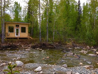 Private Riverfront Cabins Where You Can View Salmon From Mid July To September