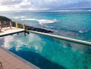 Very Private Villa,  Ocean Front, Pool, Jacuzzi & sea Gazebo