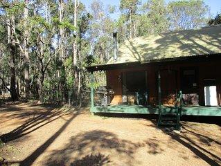 Chalet 3, set in beautiful bush on Timberline Trail