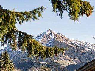 La Petite Silene, mountain view and garden.