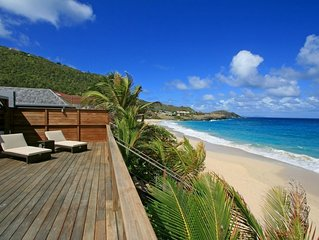 Villa Micela - Two Bedroom Beachfront Villa With Pool - St Barts Flamands Beach
