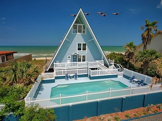Captains Cottage - 3 Bedroom oceanfront home with a sparkling pool.