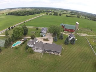 Country Estate w Pool, Tennis, Spa