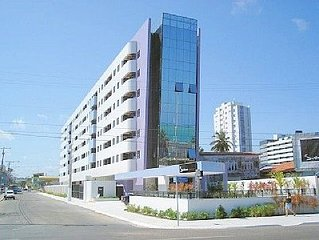 Apartamento Beira Mar de Pajucara - Piscina, Sauna, Academia, Wi-Fi