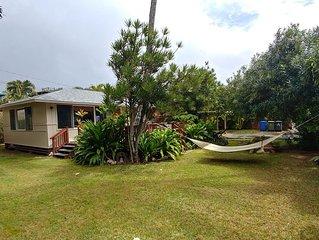 Secluded Vintage Hawaiian Beach House * Sunset Beach