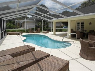 4 bedrooms and 3 bathrooms, private pool with spacious poolarea