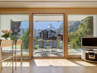 4 star Haus Alpine apartment with spectacular views of the Matterhorn