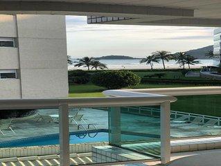 Apartamento pé na areia Riviera de São Lourenço