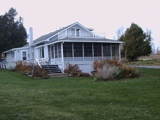 Lake Champlain waterfront bungalow on 1.5 acres
