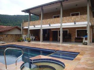 Casa de Alto padrao. Barequecaba,S.S- 5Q, 4 suites,A/C,piscina c/ hidro,churrasq