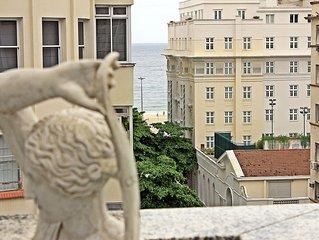 Rio Spot Q011 - Cobertura 4 quartos , 10 pessoas, varanda, vista lateral mar!