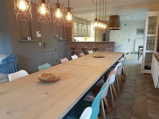 Guesthouse for 16 persons with sauna and hot tube, at the Femish Ardennes