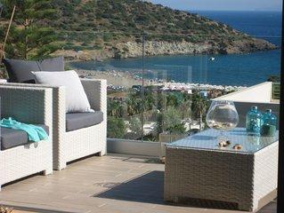Modern villa with amazing sea view and private pool in Agios Nikolaos, Anavyssos