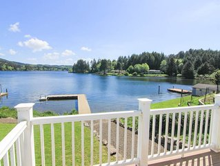 Large, Immaculate Lakefront Hm Featuring High End Amenities on Sprawling Lot