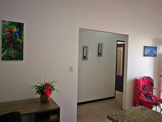 Comfy, modern and secure spot in gated community near airport and city
