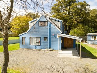 The Blue House Ohakune - warm and inviting lodge