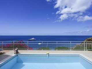 Caribbean Style Villa, Large Pool with Sunbeds and Covered Terrace, Breakfast Ba