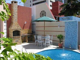Casa confortavel com piscina proxima a Praia de Ponta Negra.