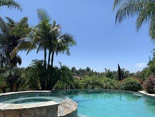 Hacienda / Sunlit Retreat with Infinity Pool