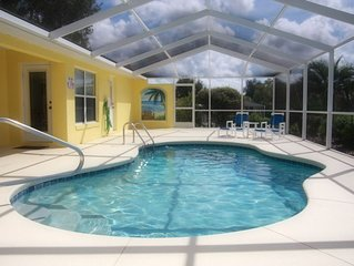3-bedroom villa with solar heated pool