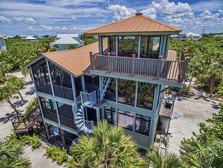 Breathtaking Designer Home 3BR/4 BA - Sleeps 10 - Steps to the Beach