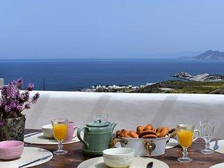 'Unique Sea View' traditionally decorated,minimal villa,huge terraces ocean view
