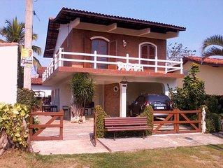 Excelente casa de praia c/ Churrasqueira/Forno pizza, terraço e vista para o mar