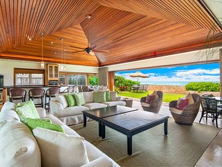 Diamond Head Tiki Estate- Oceanfront, Private Pool, Backyard