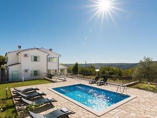 VILLA MARE-Beautiful istrian stone villa with private pool and a sea view