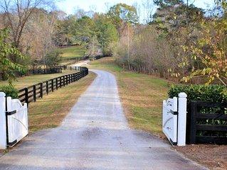 Beautiful 19 acre Equestrian Farm in heart of Alpharetta, GA