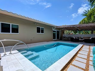 Your Own Oasis with Heated Salt Water Pool!  1.5 Miles to the Beach!