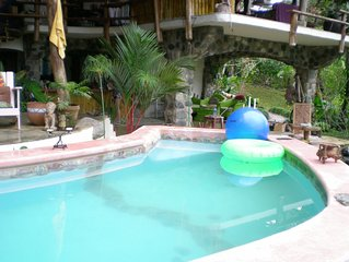 Ocean View 3 to 5 Bedroom Home on Rainforest Estate, Loaded with Monkeys!