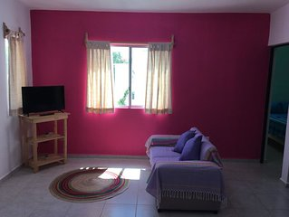 Short or Long term rental in Puerto Morelos: Cozy house well linked to beach.A/C