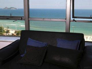 Lindíssimo apartamento,vista frontal mar indevassável,total infra e vaga garagem