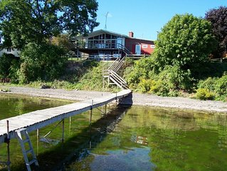Spacious Lakefront Property with Private Dock on Seneca Lake Wine Trail