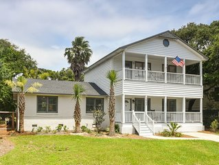 2905 Palm Blvd Isle of Palms Beach House, 4 BR, private pool steps from beach