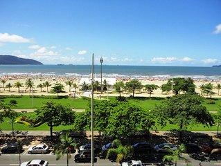VERÃO, CARNAVAL!!! apartamento frente mar praia de José Menino Santos 6 pessoas